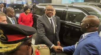 Mutharika arrives in USA for United Nations Assemby