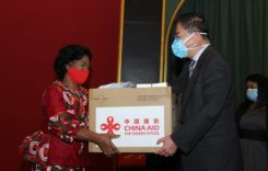 First Lady Monica Chakwera Receives China donation towards Covid-19 fight