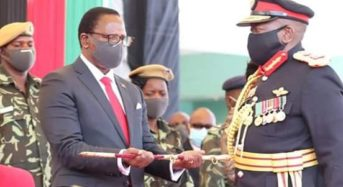 Chakwera receives Sword of Command