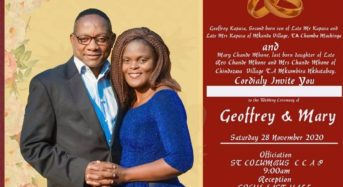 Wedding bells as Mr Splash Geoffrey Kapusa weds this saturday