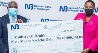 National Bank donates K60 million kwacha supplies towards Covid Fight