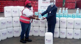 Castel Malawi donates  towards Covid19 Fight