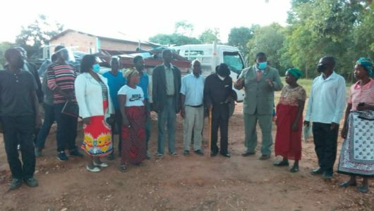 Dr Ken Zikhale Ng'oma donates Maize mill and bags of cement to Nkhatabay South residents.