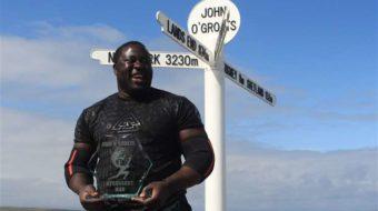 Bakili Muluzi'son Zake wins Scottish Strongman Competition